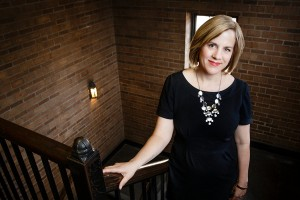 Portrait of Dr. Alexis Easley, director of Graduate English Programs, in Aquinas Hall on March 30, 2013.