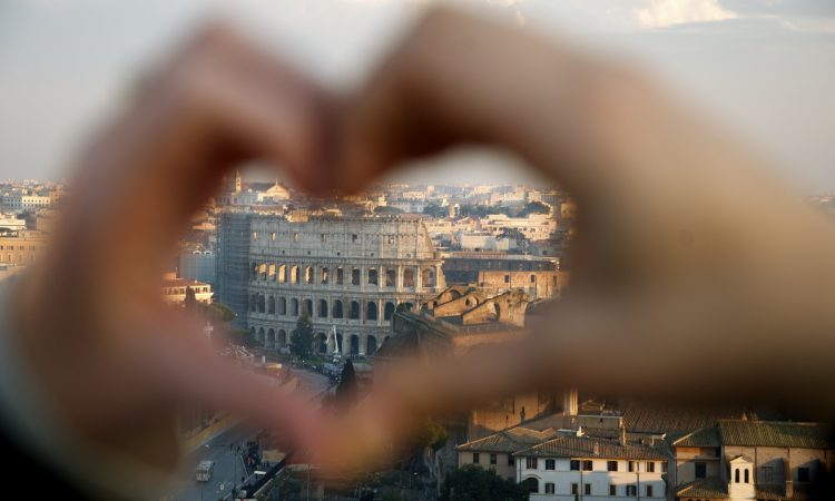 Coliseum from Vittoriano (Rome, Italy). (Photo by senior Sarah Stenbeck)