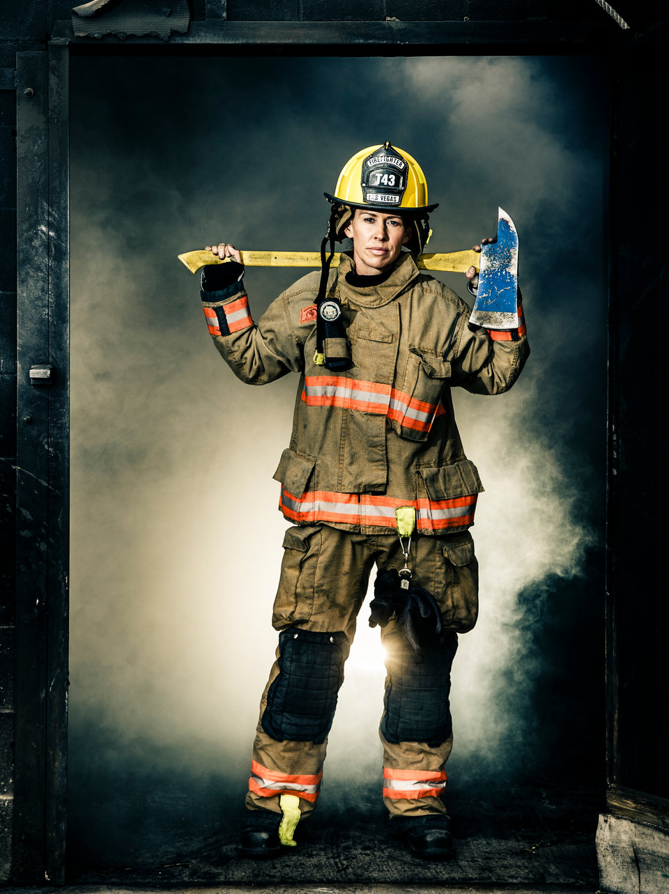 This firefighter chick is slide down my pole 4