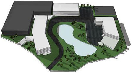 A rendering of the St. Thomas students' conceptual plan for the 12-acre site in Edina.