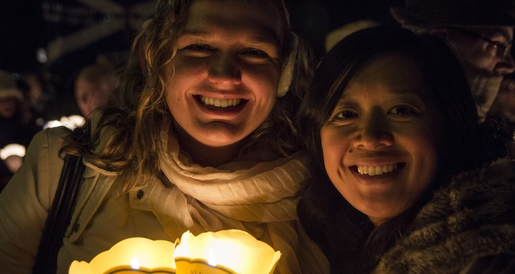 Rachelle de la Cruz '15 CSMA (right) and Cristina Maillet, CSMA candidate, in Lourdes, France. Photo by Eric Wuebben '17