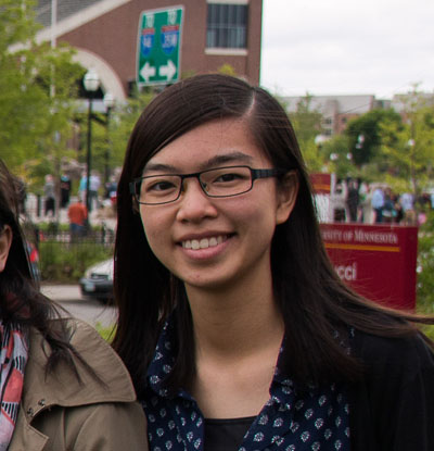 Veronic Ho, graduate student from Hong Kong who works at the Center for Global and Local Engagement