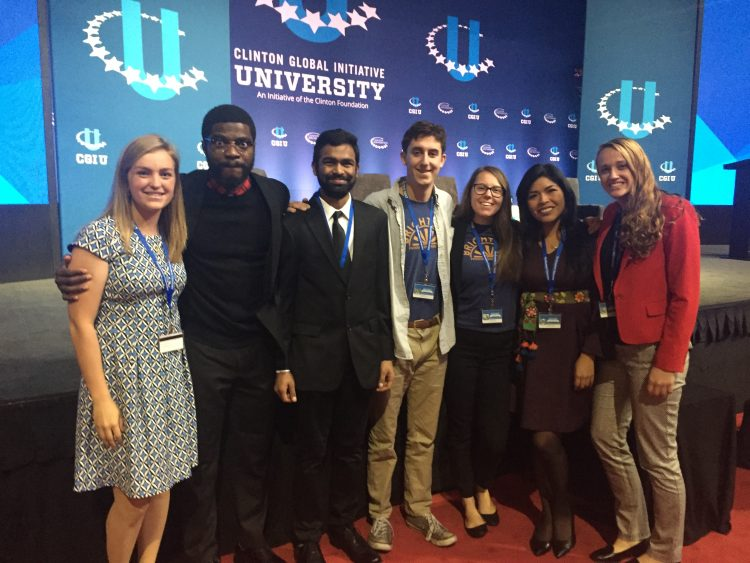 St. Thomas students pose for a photo at the Clinton Global Initiative University.
