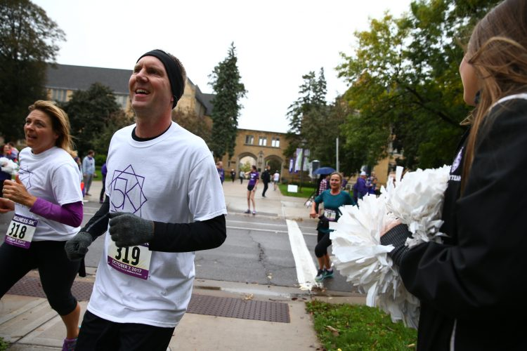 There were plenty of both runners and people cheering them on Saturday during the Wellness Center 5k.