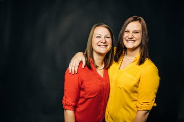 Ashley Hipp, right, poses for a studio portrait with here mother, Jennifer Hipp, left, on November 15, 2017 in St. Paul. Ashley is currently earning an undergraduate degree in Social Work from St. Thomas and is currently pursuing a masters degree. Jen Hipp also earned a masters degree in Social Work from St. Thomas.